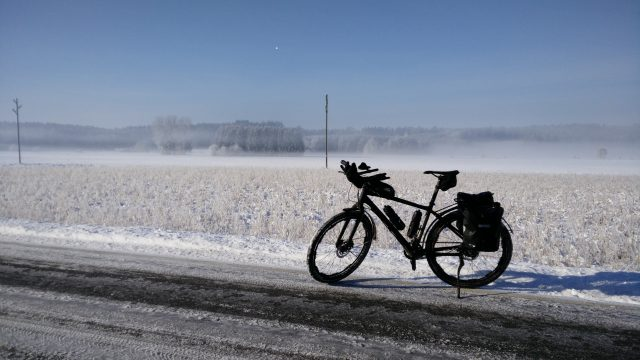Winter biketouring