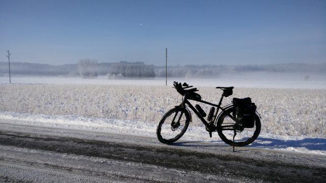 Winter biketouring